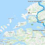 route de l'atlantique vers eglise en bois debout